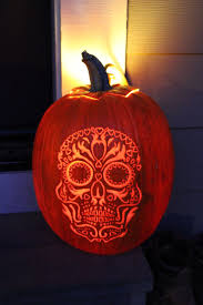 day of the dead pumpkin carvings day of the dead skull pumpkin