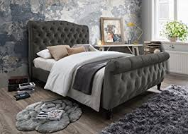 Tufted Headboard And Footboard Furniture World Monet Upholstered Sleigh Bed With