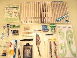 drawing materials used by manga artists japan manga