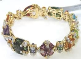 color stone bracelet images Bellari 18k gold diamond multi color stone bracelet jpg