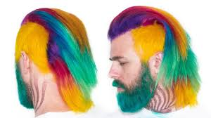 semi permanent rainbow hair tutorial u0026 how to remove color