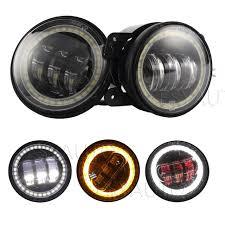 led lights for motorcycle for sale sale 2pcs black 4 5 30w led fog lights with red evil eye and