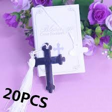 communion favors wholesale wholesale boxed blessings silver bible cross bookmark bridal baby