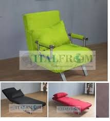 Single Armchair Bed Sofa Bed Single Sofabed Armchair Microfibre Italfrom Design Ebay