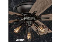52 Ceiling Fan With Light Rustic Ceiling Fans With Lights Canada Contemporary Antler