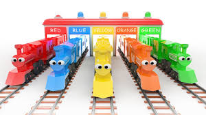learn colors with colorful trains evankids youtube