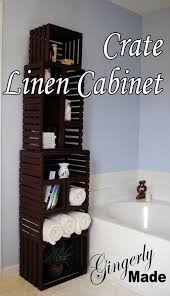 diy wood crate cabinet great idea for bathroom storage or any