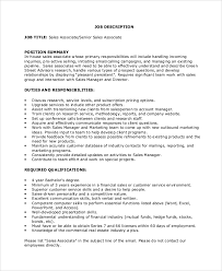 Sales And Marketing Job Description Resume by Sales Associate Job Dutie Cashier Objective Resume Examples