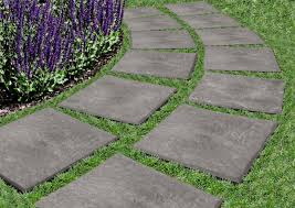 Recycled Rubber Patio Pavers Stomp Garden Pavers Set Of 4 30 For Path Between Side