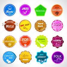 music badges all styles of music u2014 stock vector dannyrash 23764879
