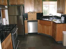 small kitchen makeover design with black pearl granite countertops