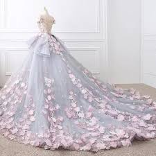 gowns for wedding floral lace wedding dresses gowns with 3d flowers alinanova