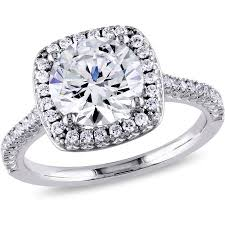 5 engagement ring miabella 5 carat t g w cubic zirconia sterling silver halo