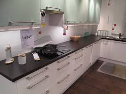 ikea faktum applad kitchen with white and light turquoise doors