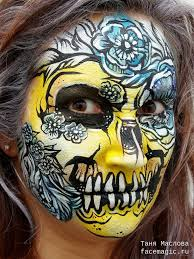 scary beauty face paint by tanya maslova my face paints