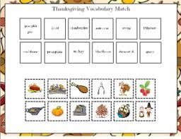 thanksgiving vocabulary match for the smart board by paula peterson