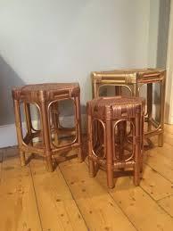 vintage rattan nesting tables interior trends 2017 rattan manchester london food travel