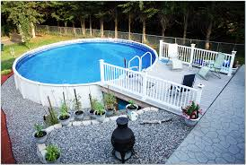 Above Ground Pool Ideas Backyard Above Ground Pool Deck Ideas On A Budget Have Extraordinary Above