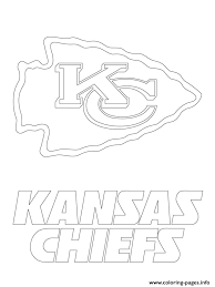 oakland raiders coloring pages kansas city chiefs logo football sport coloring pages printable
