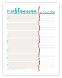 editable menu templates best 25 weekly menu template ideas on menu planners