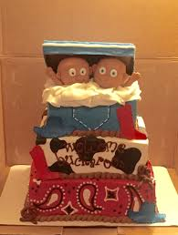 twin cowboys baby shower cake cakes by sarah u0027s sweets