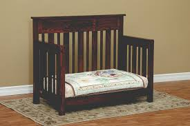 Converting Crib To Toddler Bed Convertible Cribs Amish Custom Furniture