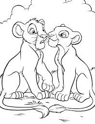 lion king young simba nala coloring disney lol