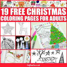 free christmas coloring pages adults crafts sea