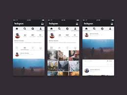 download instagram layout app instagram ui concept freebie download photoshop resource psd repo