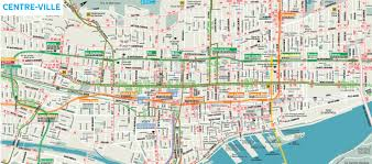 Map Of New York City Attractions Pdf by Downtown Montreal Map Montreal Travel Guide