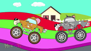 monster truck youtube videos tom and jerry cartoon monster trucks for children kids video