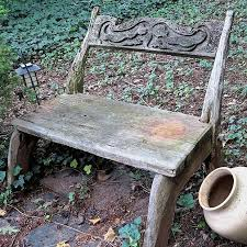 stencil an outdoor bench with chalk paint hometalk