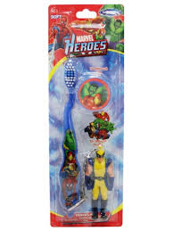 Smileguard marvel heroes travel kit with brush buddy round cup