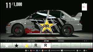 mitsubishi sticker design forza motorsport 4 rockstar energy how to make in decal youtube