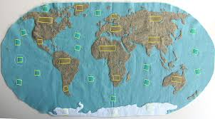 World Map Of Continents And Oceans To Label montessori continents map u0026 quietbook with 3 part cards imagine