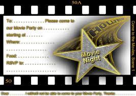 free printable gratuation movie themed invitations printable
