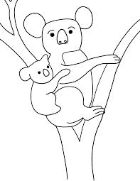 free printable koala coloring