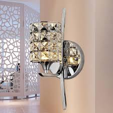 modern crystal wall light sconces loft bedroom bedside indoor