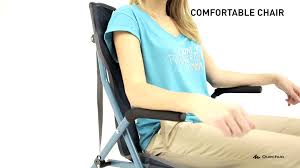 quechua comfortable chair youtube