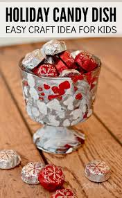 holiday candy dish easy christmas craft idea for kids