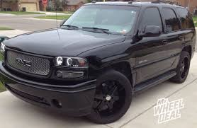 nissan murano black rims milanni kool whip 6 black wheels on a gmc yukon denalli
