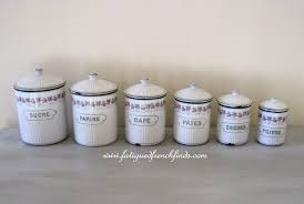 enamel kitchen canisters sold antique enamel set of 6 kitchen canisters by bb of austria