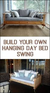 best 25 hanging porch bed ideas on pinterest porch bed porch how to build a hanging daybed swing