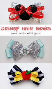 how to make headband bows disney hair bows simple tutorial bombshell bling
