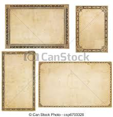 vintage cards four vintage cards with ornate borders a set of four stock