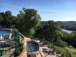 cliffs resort table rock lake branson mo infinity pool on upper level children s pool below w waterfall
