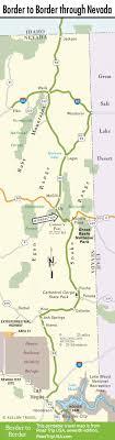 nevada road map border to border route through nevada road trip usa