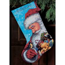dimensions santa toys needlepoint kit