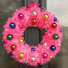 collection of pink wreaths tree decoration ideas