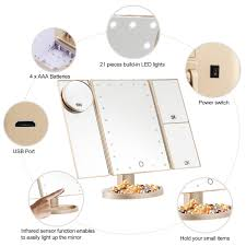 magicfly makeup mirror 10x 3x 2x 1x magnifying 21 led lighted tri